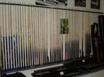 Blackpool Snooker Company Snooker and Pool Cue Display