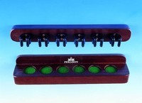 Mahogany wall mounted cue rack