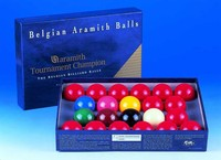 "2 1/16"" (52.5mm) Aramith Tournament Champion Snooker balls (15 reds)"